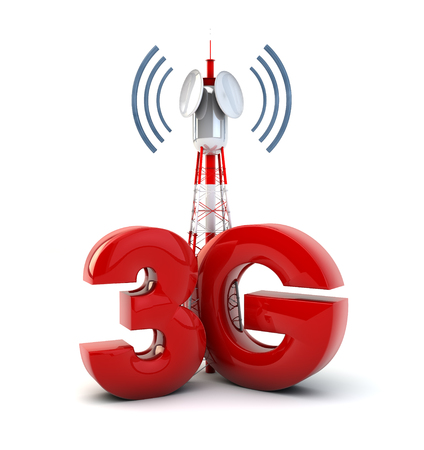 wireles: render of a communication tower and the text 3g