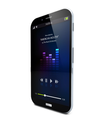 playlist: render of a music smartphone