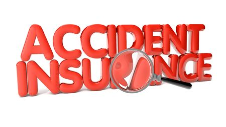 duration: accident insurance text isolated on white background