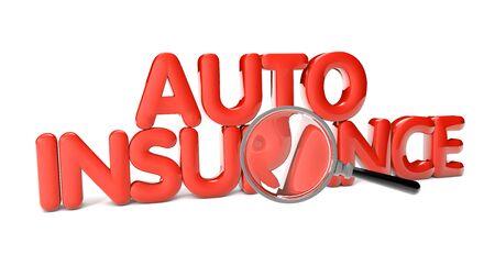 auto insurance: auto insurance text isolated on white background Stock Photo