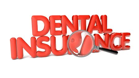 duration: dental insurance text isolated on white background
