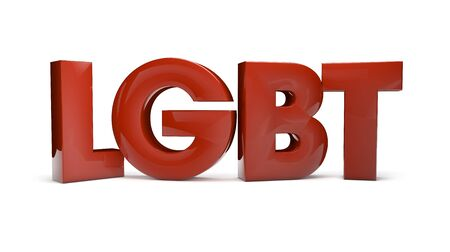 bisexual: gay concept: gay, lesbian, bisexual and transexual popular abbreviature isolated on white Stock Photo