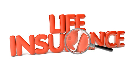 life insurance: life insurance text isolated on white background Stock Photo