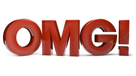 disturbing: Surprise concept: letters omg as abbreviation of big surprise