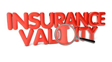 validity: texto validez del seguro aislado en el fondo blanco