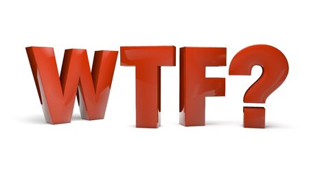 abbreviation: Surprise concept: letters WTF as abbreviation of big surprise