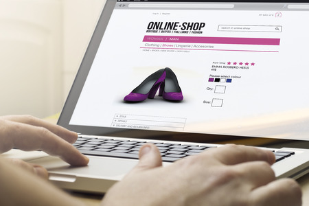 go shopping: home online shopping concept: man using a laptop to go shopping