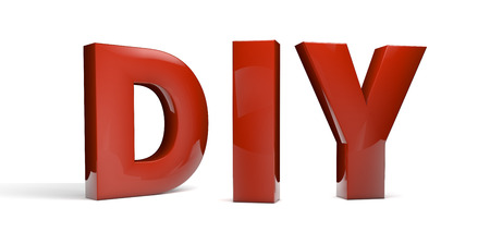 do it yourself: do it yourself abbreviation (DIY) text isolated on white Stock Photo