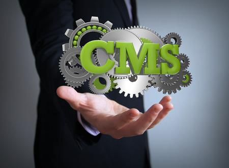 cms: cms coding businessman Stock Photo