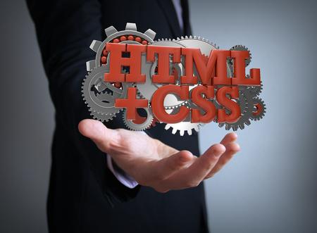 html5: html5 coding businessman