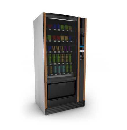 automatic machine: render of a isolated on white vending machine
