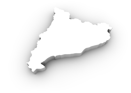 rip off: render of a catalonia map isolated