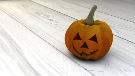 cucurbit: halloween pumpkin over wooden floor Stock Photo