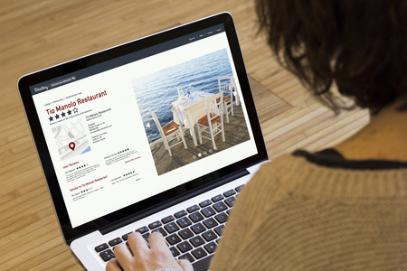 online directory on a laptop screen.