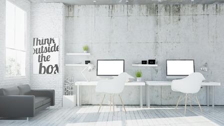 3d rendering of coworking office