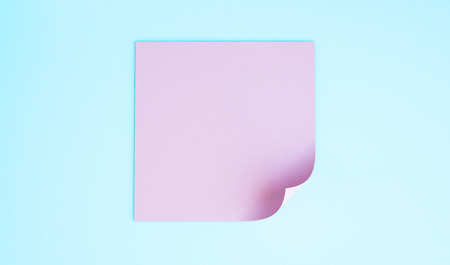 pink note 3d rendering
