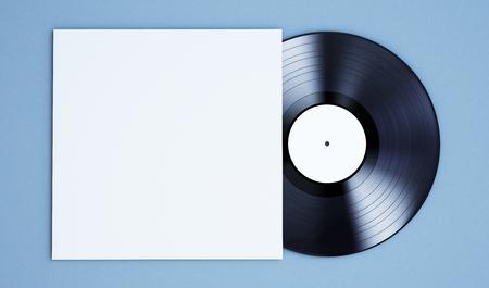 3d rendering of vinyl record mockup