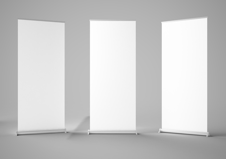 three roller 3d rendering mock-up