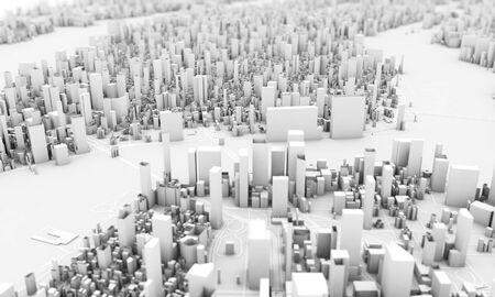 白いニューヨーク市の3Dレンダリング