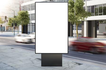 billboard on city street 3d rendering