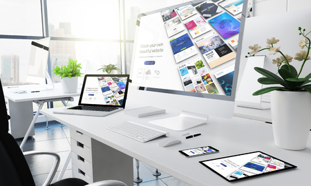 office responsive devices website builder3d rendering