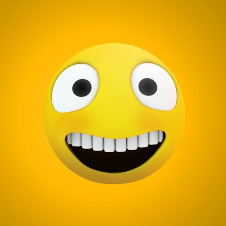 emoji smile icon 3d rendering