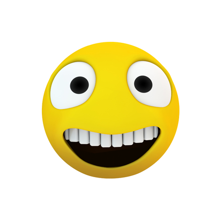 emoji smile icon 3d rendering isolated