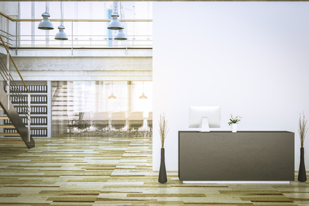 company reception 3d rendering interior