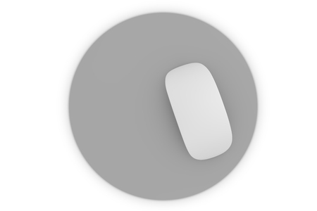 Isolated mouse pad mockup 3d rendering