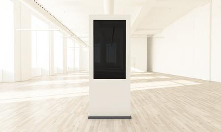 Maquette de rendu 3d d'affichage de magasin de détail