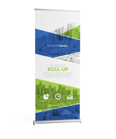 Awesome design realistic roller mockup 3d rendering isolated on white Imagens