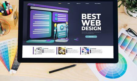 tablet pro best web design on desktop