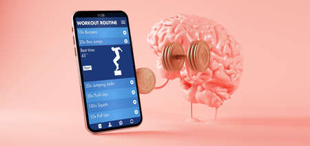 Smart training concept 3d rendering