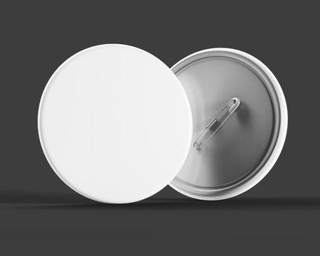 Pin badge mock up 3d rendering