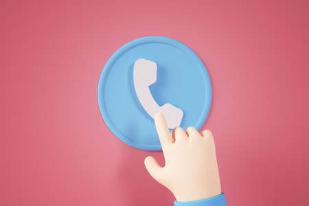 Phone contact button concept 3d rendering Stockfoto