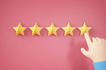hand rating a experience concept 3d rendering Stockfoto