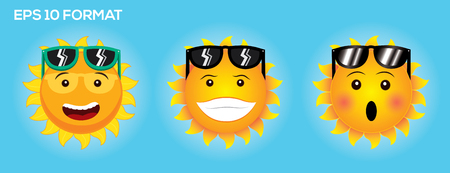 Collection emotion of Sun face