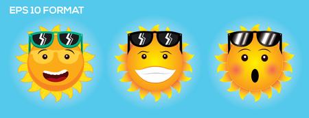 Kollektion Emotion der Sun Gesicht Standard-Bild - 47669674