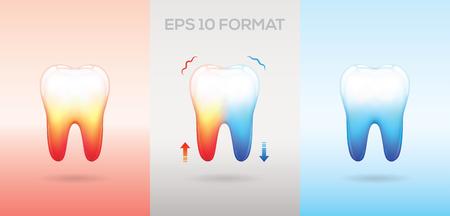 diente caricatura: Efecto de dientes sensibles