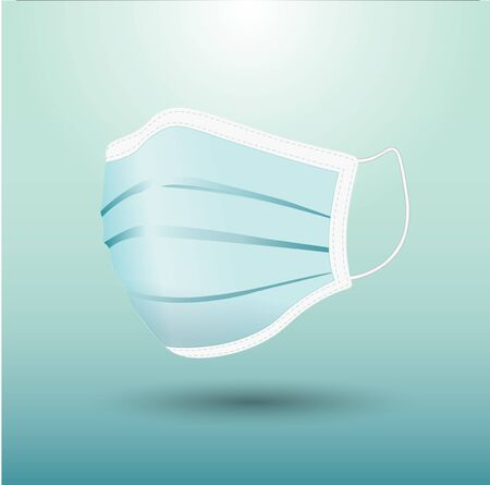 Surgical mask in isolated vector
