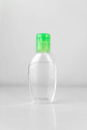 Hand sanitizer liquid bottle Banco de Imagens