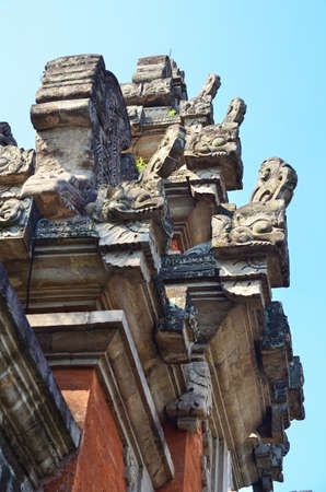 balinese: Gate of temple with Balinese ornament