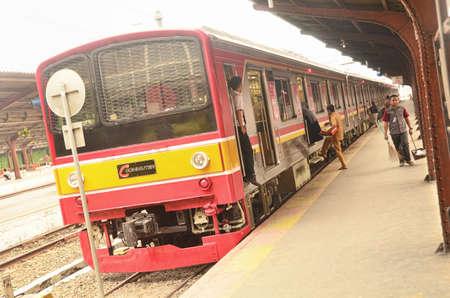 Jakarta commuter line in Jakarta Kota Railway Station