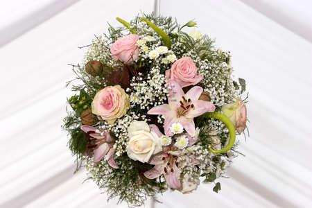 Round wedding bouquet Stock Photo