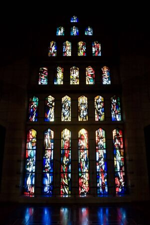Glass windows in Good Tidings Church of Nazareth
