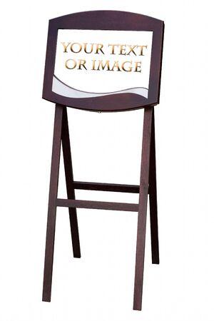 Wood frame for advertising restaurant menu