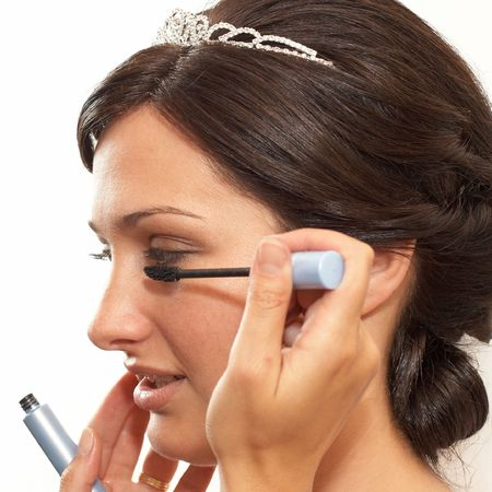 Young bride making her makeup for wedding ceremony Stock Photo - 3791313