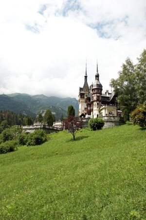 Scene with old castle in Carpathians Europe