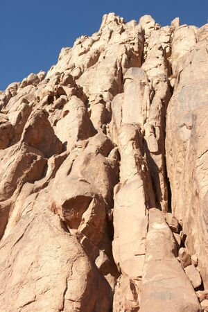 Rocks of holy land Mount Sinai in the morning Stock Photo - 4658167