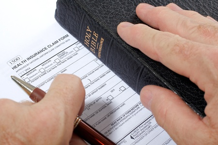 Concept of trust in God to provide personal insurance